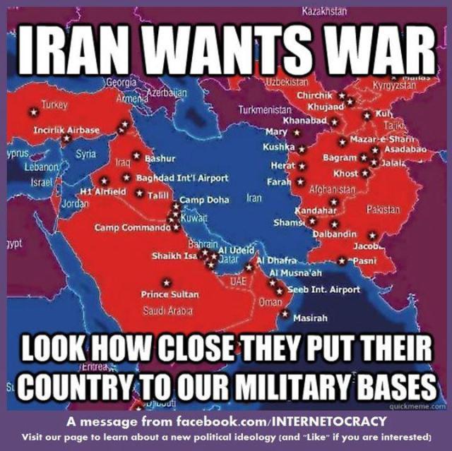 Das Einkreisen des Irans