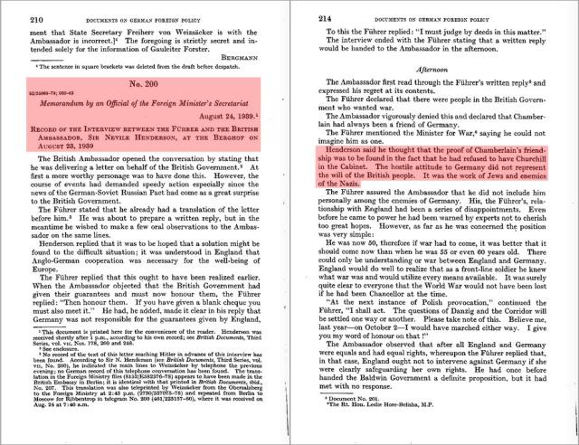 Hitler and Britain - German Whitebook