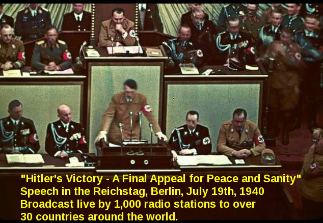 Hitler's Victory - A Final Appeal for Peace and Sanity, July 19th, 1940
