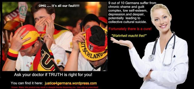 Justice for Germans - Amazing cure for chronic low self-esteem among Germans