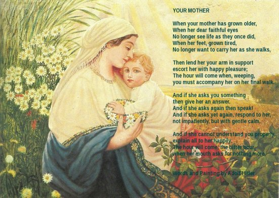 Image result for hitler's poem mother