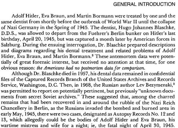 Hitler Autopsy Report excerpt 1
