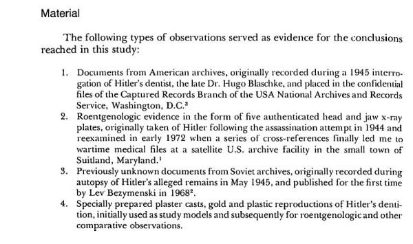Hitler Autopsy Report excerpt 2