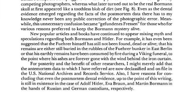 Hitler Autopsy Report excerpt 4
