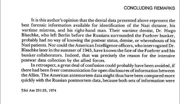 Hitler Autopsy Report excerpt 5