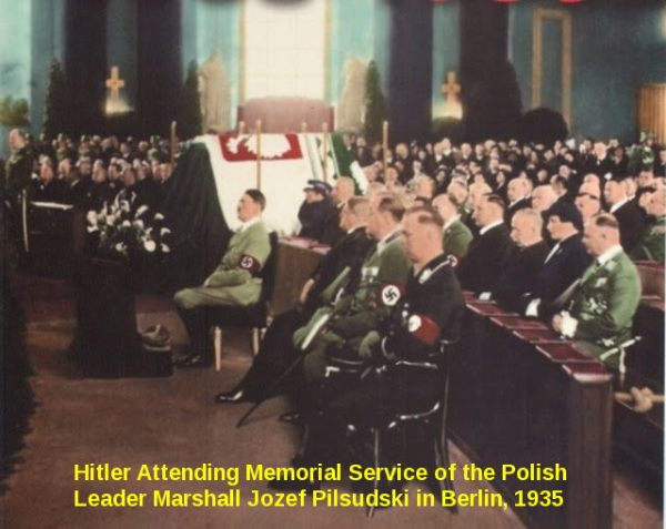 Adolf Hitler at Jozef Pilsudski, 1935