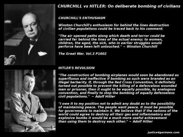 Churchill vs Hitler - Deliberate Bombing of Civilians