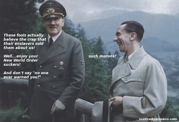 Hitler and Goebbels - The last laugh  (please feel free to copy and share this graphic)