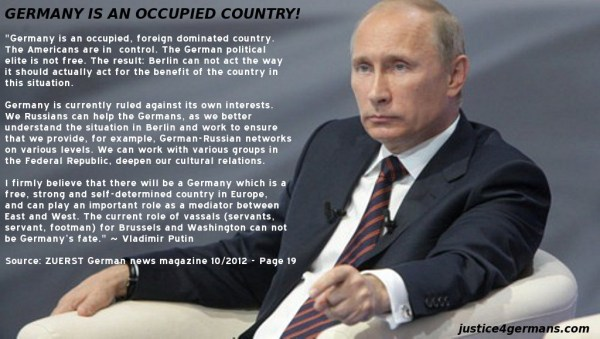 Putin - Germany is an Occupied Country