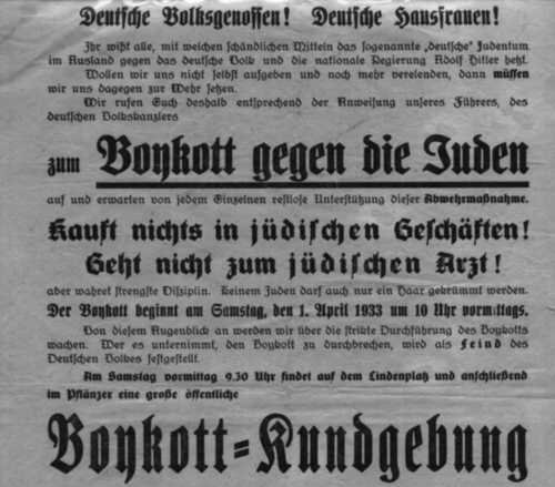 German boycott day
