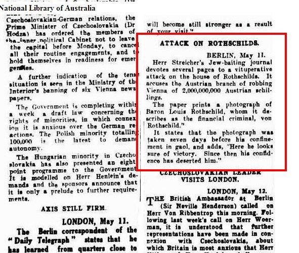 attack on Rothschilds