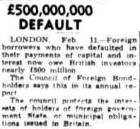 £500,000,000 default