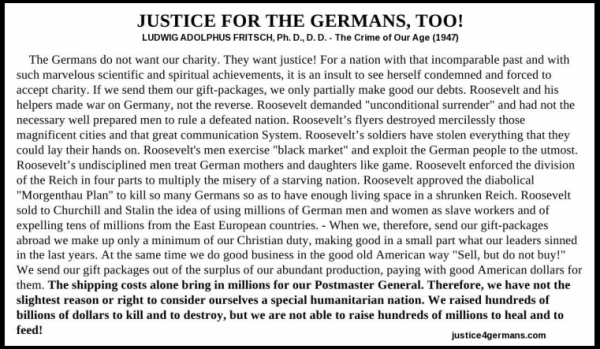 The Crime of Our Age - Justice for the Germans