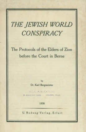 Jewish World Conspiracy by Karl Bergmeister (1938)